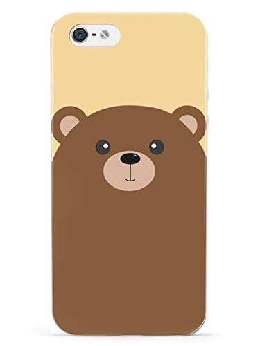 Inspired Cases - 3D Textured iPhone 5/5s/SE Case - Rubber Bumper Cover - Protective Phone Case for Apple iPhone 5/5s/SE - Cartoon Bear
