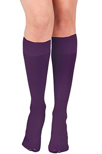 KMystic Womens Trouser Socks Knee High (Purple) -