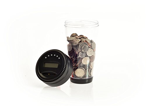 Digital Coin Tumbler - Coin Counter Change Organizer fits Car Cup Holders Cars - Automatically Totals the Value of U.S. Coins Photo #4