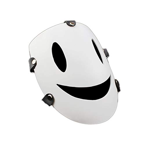 Smiley Horror Movie Mask (KKMask-11 Halloween Smiley Face White Mask Role Playing Props Cosplay Party Holiday Party Role Playing Supplies)