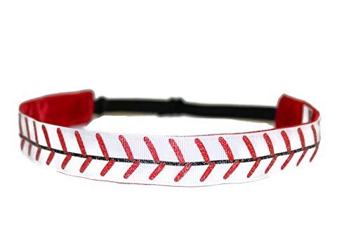 (BEACHGIRL Bands Headband Non-Slip Adjustable Sports Hair Band Baseball)
