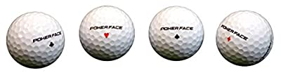Poker Face Premium White Golf Ball Royal Flush 1dozen Extra Distance Smooth Feel