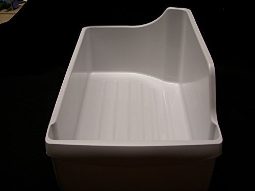 Genuine Frigidaire Refrigerator Ice Maker Cube Bucket Storage Bin 240385201 by Frigidaire (Ice Machine Bin)