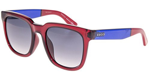 Gucci Asian Fit Blue and Red Sunglasses