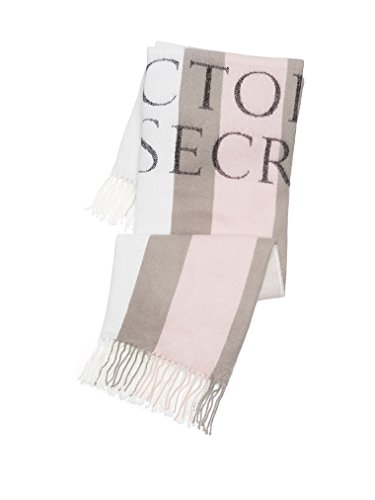 Price comparison product image Victoria's Secret Limited Edition 2016 Throw Blanket (White,Gray and Pink)
