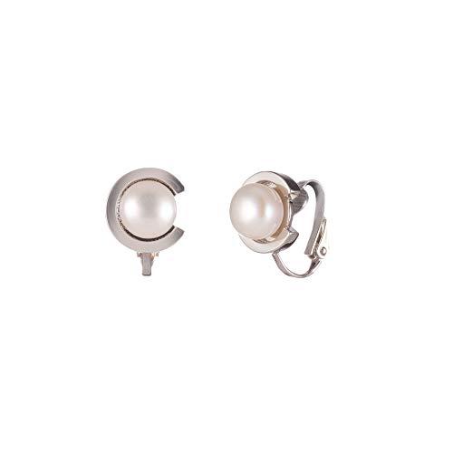 Carolee Women's Fresh Water Pearl C Stud Clip Earring