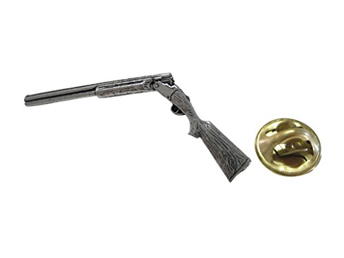 Over Under Shotgun Pendant Lapel Pin