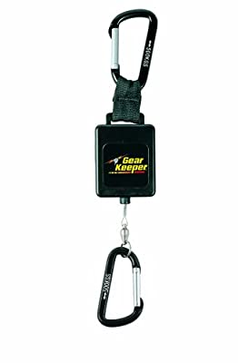 "Gear Keeper RT3-4568 Retractable Instrument Tether with Aluminum Carabiner, 80 lbs Breaking Strength, 68 oz Force, 16"" Extension"