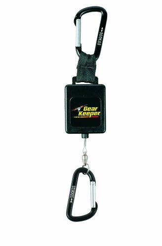 (Gear Keeper RT3-4558 Retractable Instrument Tether with Aluminum Carabiner, 80 lbs Breaking Strength, 58 oz Force, 22