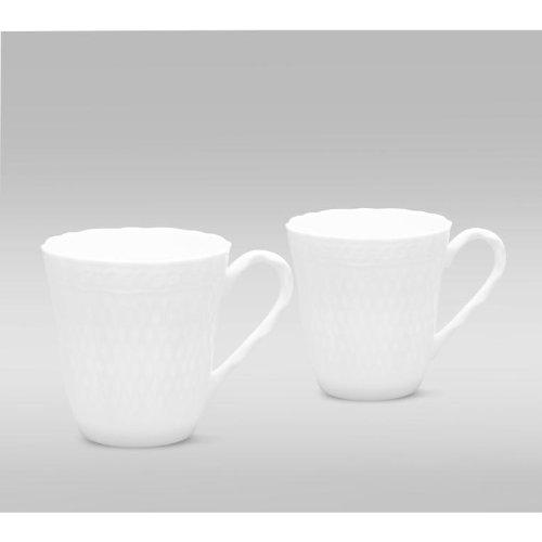 NORITAKE CHER BLANC Set of 2 mugs 10 oz -  Since 1904, Noritake Has Been Bringing Beauty And