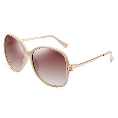 Sol Gafas Sol Gafas Gafas Las Las Gafas de de de la Las Polaroid de de de Gafas del Mujeres Sol de de Grande Manera Caja WYJL de Sol D A Color la de Espejo XwqntAExwR