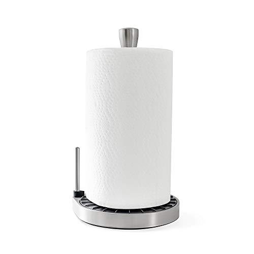Umbra Spin Click N Tear Paper Towel Holder, Black/Nickel