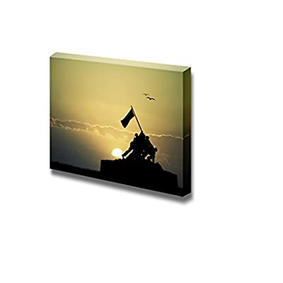 Canvas Prints Wall Art - War Memorial at Sunset Time | Modern Wall Decor/Home Art Stretched Gallery Wraps Giclee Print & Wood Framed. Ready to Hang - 24