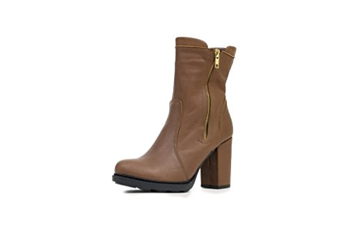 N & K Londen Schoenen Gaia Medium Hiel, Dames Boots Brown