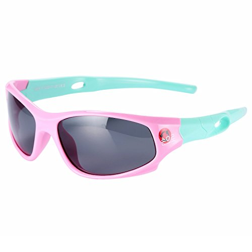 IWOCH girls Polarized Rubber Flexible Sunglasses for Baby Girls age 3-10