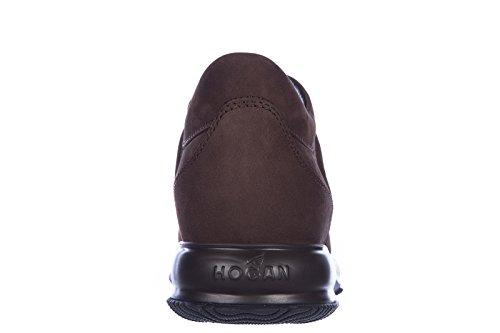 Hogan Zapatos Zapatillas de Deporte Hombres EN Piel Nuevo Interactive Marrón