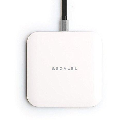 BEZALEL Futura X Thinnest Qi Wireless Charger Charging Pad for All Qi-enabled Smartphone: iPhone 8 8 Plus X, Samsung Galaxy S8 S8+ S7 S6 Edge+ Note 8 5, LG G6 V30 - White