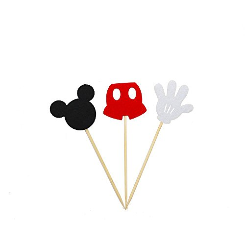 AIMING WEST Set of 24 Assorted Felt Mickey