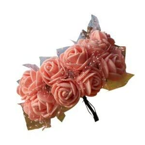 Artificial Flowers - Szs 144pcs Lot 2cm Diy Pe Artificial Flowers Rose Head With Mesh Wedding Home Decorative Bouquet - Multi Silver Sunflowers Small Assortment Living Included Jewel Oran 8