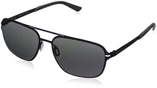 Red Bull Racing Eyewear - Lunette de soleil RBR182 LIFE-TECH Aviator matt dark blue & rubber grey/smoke with blue flash