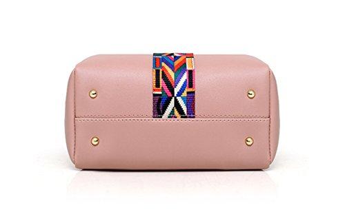 de y de de cuatro bolsa de para minimalistas la de hombro Bolso tarjeta mujer tamaño de paquetes la Pink bolsa tamaño gran viaje bolsos de piezas la gran mensajero de de wXX6x8q4