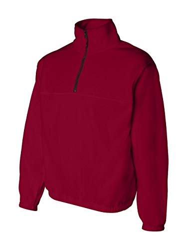 Sierra Pacific 3051 Adult Anti-Pill Fleece Quarter-Zip Pullover Red - Large