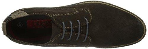 Bugatti D8026PR3 - Zapatos con cordones de cuero hombre Coffee 686