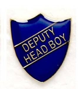DEPUTY HEAD BOY SHIELD PIN BADGE BLUE SB020B