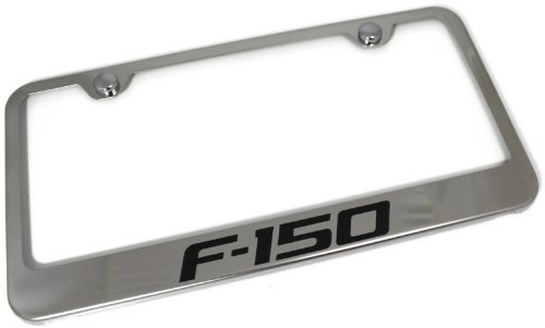 Au-Tomotive Gold, INC. License Plate Frame for Ford F-150 Stainless Steel Chrome - LF.F15.EC ()
