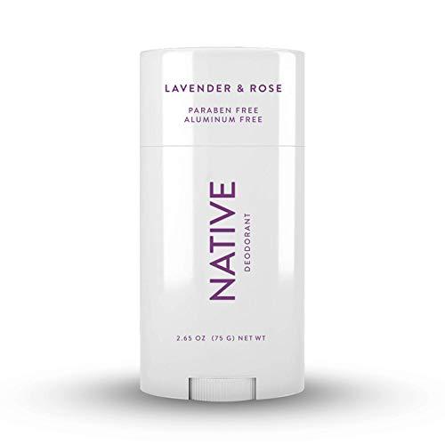 Native Deodorant - Natural Deodorant for Women and Men - Vegan, Gluten Free, Cruelty Free, Contains Probiotics - Aluminum Free, Free of Parabens and Sulfates - Lavender & Rose