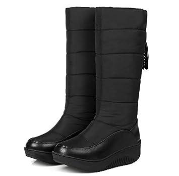 PINGXIANNV Zapatos De Invierno para Mujer Botas De Nieve con Borla Botas  para Mujer Botas De Manga Térmica De Pierna Media Mujer  Amazon.es  Deportes  y aire ... 28c85c810bce2
