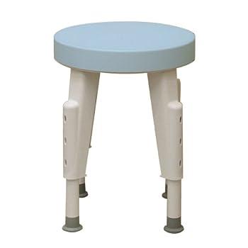 Ableware Rotating Shower Stool, Adjustable Legs