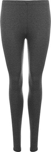 WearAll Plus Size Women's Full Length Leggings - Dark Gray - US 24-26 (UK 28-30)