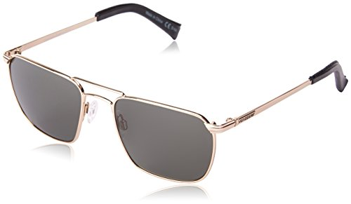 Veezee - Dba Von Zipper Libertine Rectangular Sunglasses, Gold, 54 - Sunglass Zipper Von Case