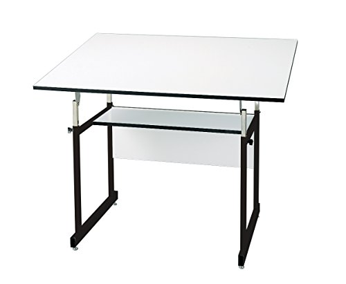 Alvin WMJ-3-XB WorkMaster Jr. Table, Black Base White Top 31 inches x 42 inches (31'' x 42'', Black) by Alvin