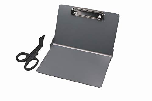 Folding Clipboard for Nursing Medical Use Lightweight Aluminum Construction-Grey