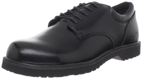 (Bates Men's Hi Shine Uniform High Shine Oxford, Black, 13 M US)