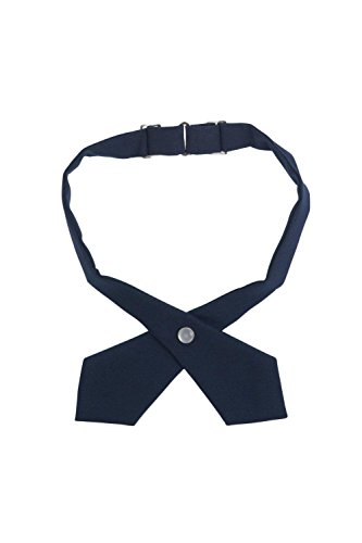 French Toast Girls' Adjustable Cross Tie Solid, Navy, One Size