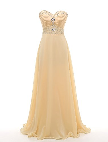 Chiffon Beaded Long Gown - 9