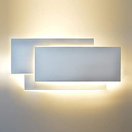 HLIGHT Moderna 18W Pared de Aluminio de la lámpara LED de la Sala Apliques de luz de Escalera Lámparas Plaza Dormitorio de Noche Hotel Wall Light,Blanco: Amazon.es: Hogar