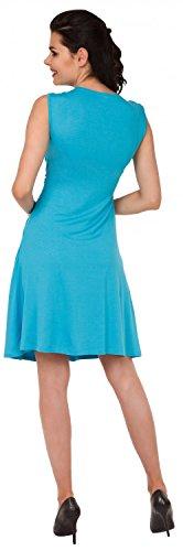 Zeta Ville Premamá - Vestido de lactancia efecto 2 en 1 - para mujer - 500c Cyan