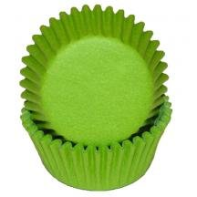 Lime Green Mini Baking Liners - Cupcake Liners - 100 -