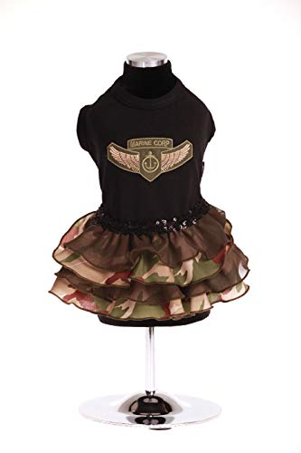 Y Vestido Militar Aplicación Todos Negro Brilli Minerva Wandy Con Minervanerxs Brille Jersey Xs Trilly Volantes Camuflaje Tutti De Térmica qOA401