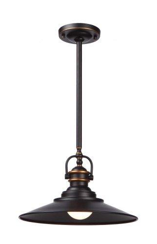 Artcraft Lighting Heath Single-Pendant Light, Dark Bronze