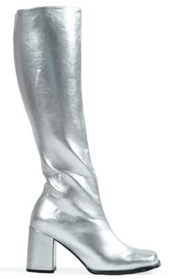 Silver Costumes Boots (GoGo Shoes - Size 10)