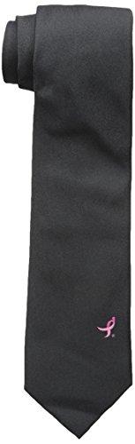 Susan Komen Breast Cancer (Susan G. Komen Men's Textured Logo Tie, Black, One Size)