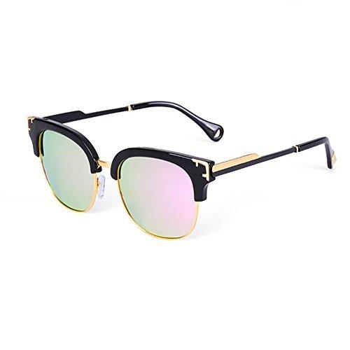 HONEY Mme Retro lunettes de soleil polarisées - Protection UV400 complète - Design demi-cadre ( Couleur : 5 ) za3IpmizvY