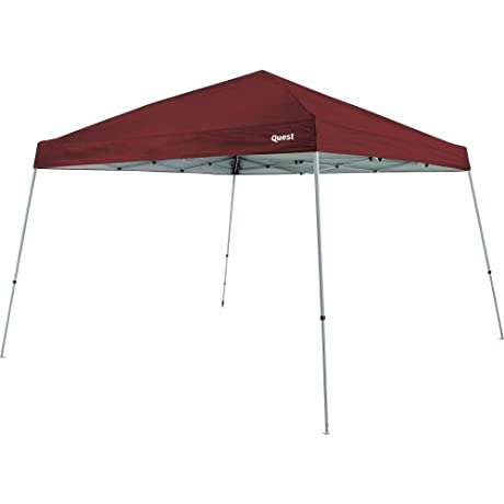 Quest Q64 10 FT X 10 FT Slant Leg Instant Up Canopy Burgundy Red