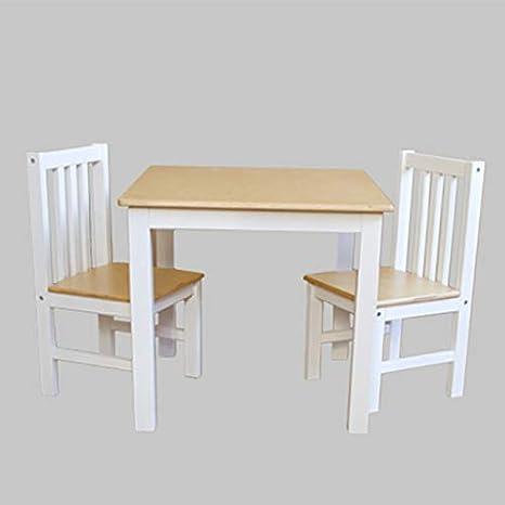 Reer - Juego de mesa y 2 sillas para niños (mesa y mesa), diseño ...