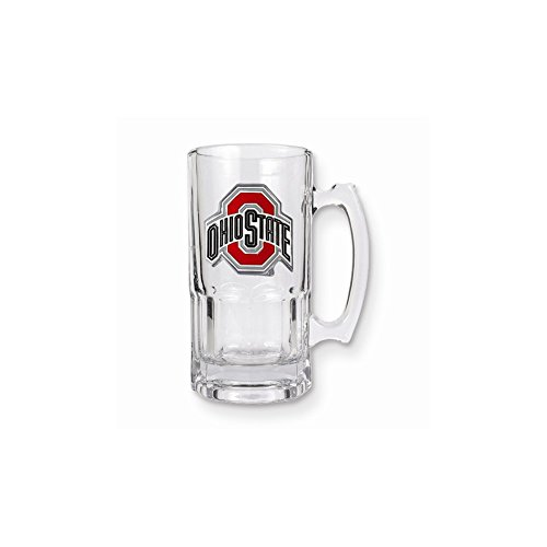 Jewelry Adviser Gifts Collegiate Ohio State 1-liter Glass Macho Tankard 1l Macho Beer Mug